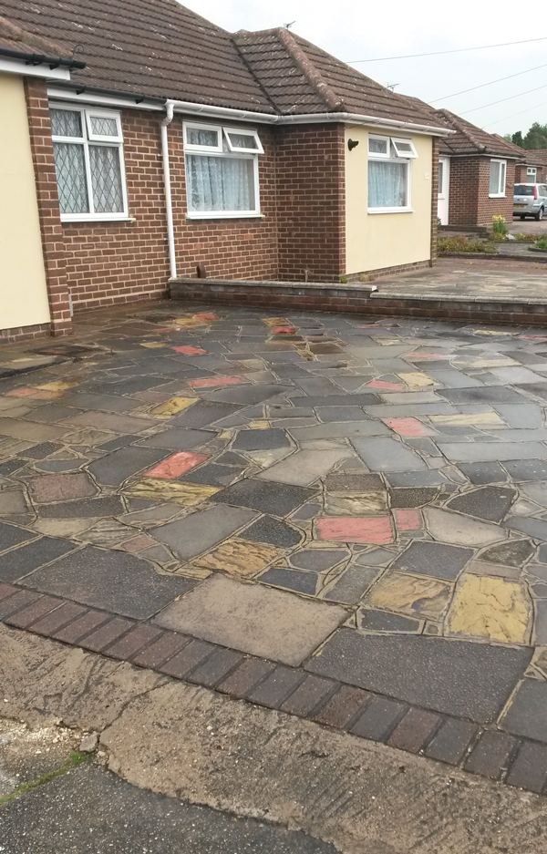 Before driveway cleaning Waltham Cross, Herts